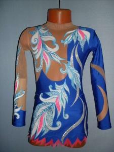 Купить синий костюм для худ. гимнастики в Калуге - Мир Танца